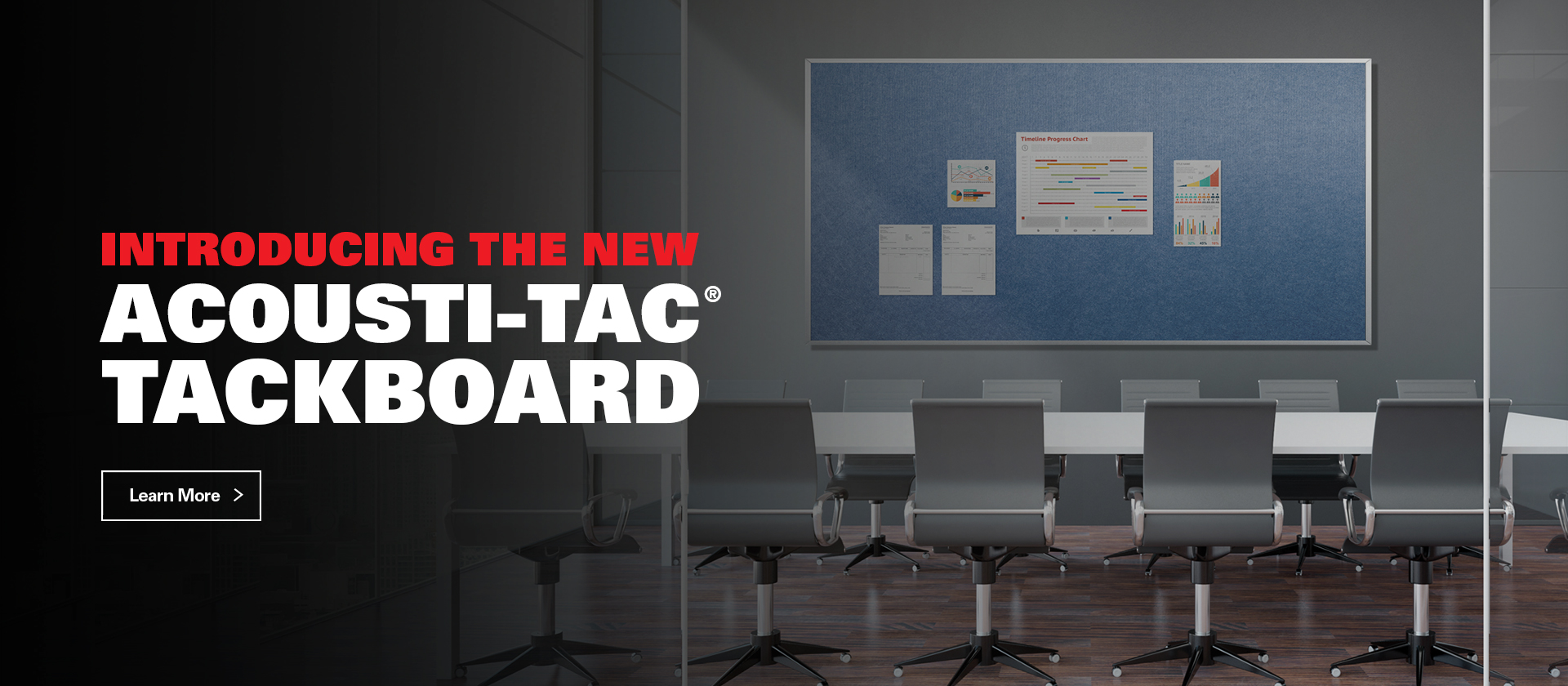 Introducing the new accousti-tac tackboard